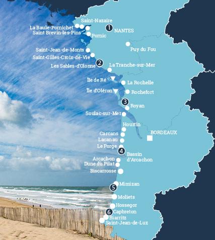 camping frankreich karte Camping an der französischen Atlantikküste   Atlantikküste Frankreich