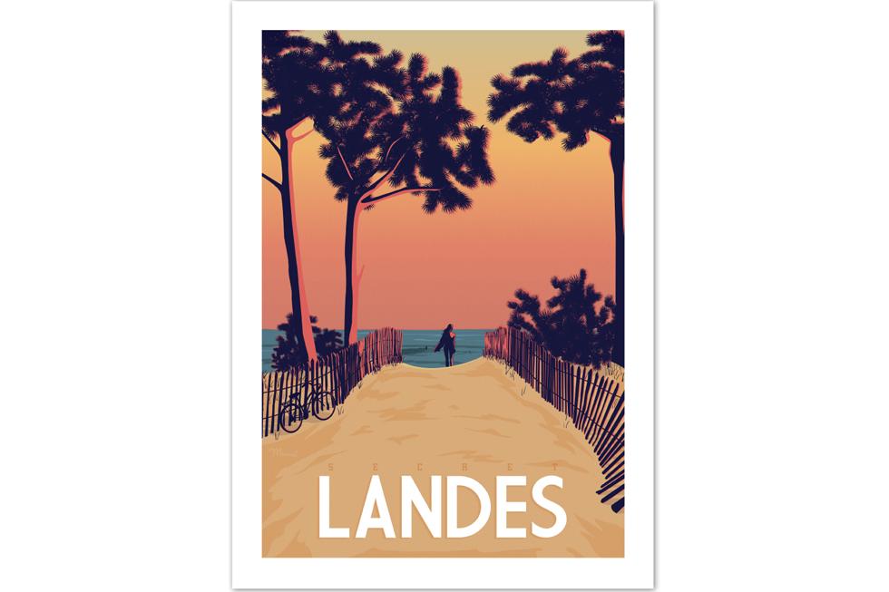 Poster Les Landes