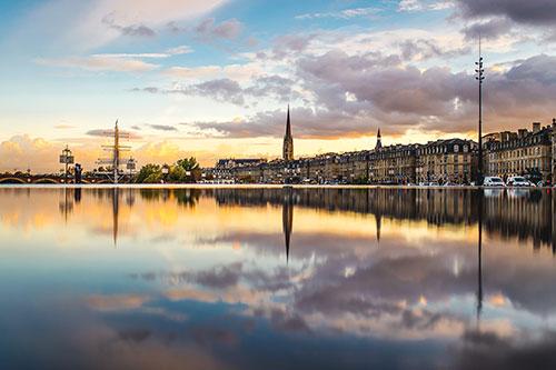 Der Wasserspiegel in Bordeaux
