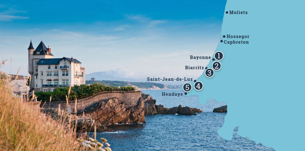 Karte Pays-Basque