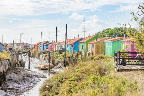 Die bunten Austernfischerhütten auf der Ile d'Oléron