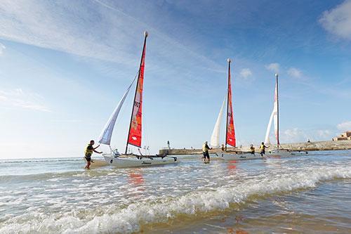 Segelboote in Les Sables d'Olonne