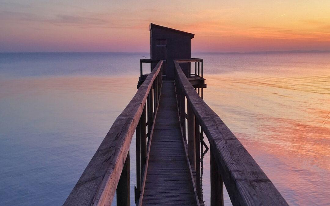 Eine Fischerhütte am Atlantischen Ozean