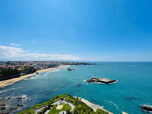 Die Aussicht auf Biarritz vom Leuchtturm Phare de Biarritz