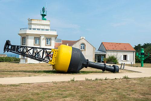 Der Leuchtturm Sémaphore de la Pointe St-Gildas
